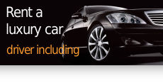 Rent a luxury car, driver including